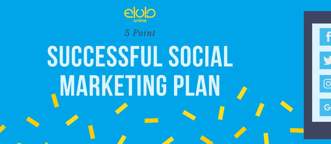 5 Point Successful Social Marketing Plan