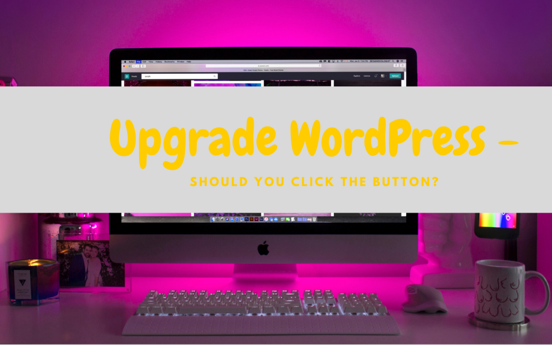 Upgrade WordPress – Should You Click the Button?